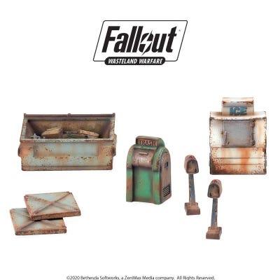 Fallout: Wasteland Warfare - Terrain Expansion: Boston Street Scatter