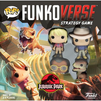POP! Funkoverse: Jurassic Park 100 - Strategy Game 4-Pack