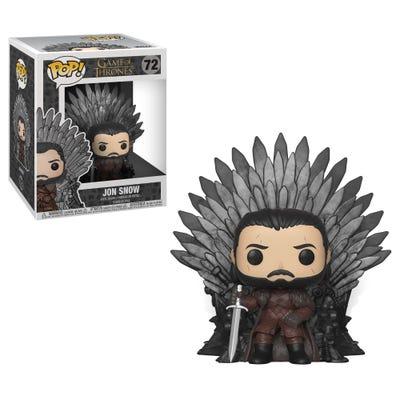 POP! Vinyl Deluxe: Game of Thrones S10 - Jon Snow Sitting on Iron Throne
