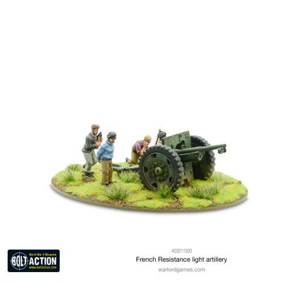 French Resistance Light Artillery Metal Blister