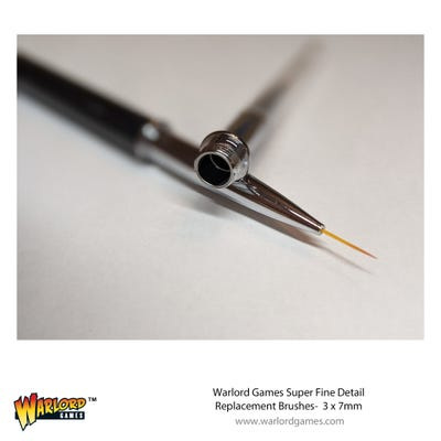 Warlord 3 Pack 7mm Replacement Brush