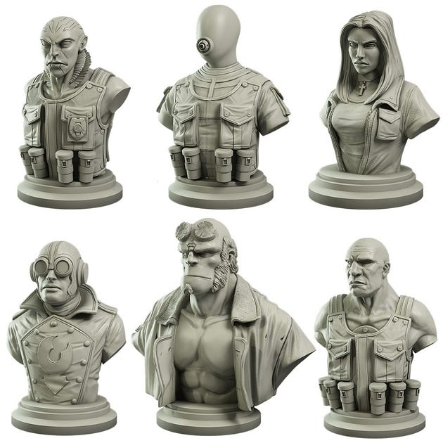 Hellboy Collector's Bust Set