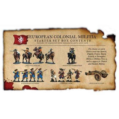 European Colonial Militia Nationality Set