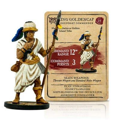 King Golden Cap Legendary Commander