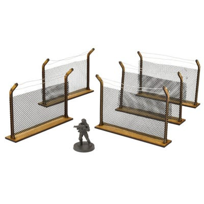 Chain-Link Fences Scenery Set
