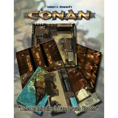 Conan: Dens of Iniquity & Streets Of Terror Geomorphic Tile Set