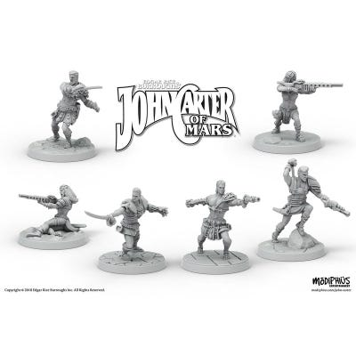 John Carter Miniatures: Helium Fighting Crew Miniatures Set