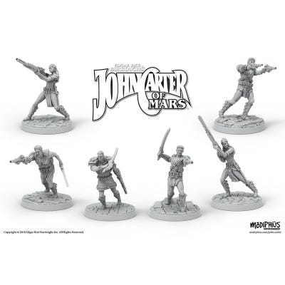 John Carter Miniatures: Zodangan Fighting Crew Miniatures Set
