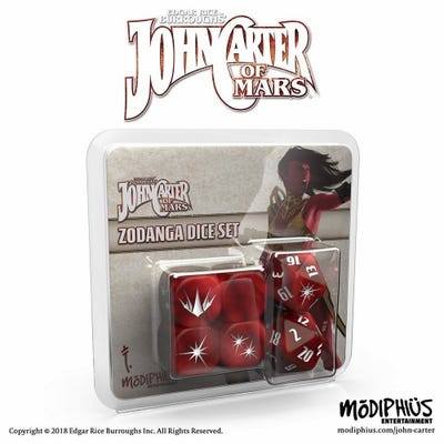 John Carter of Mars RPG: Zodanga Dice Set