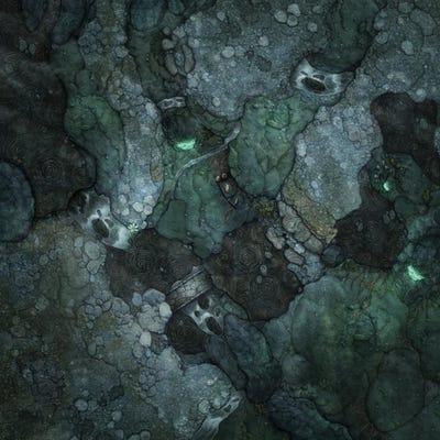The Elder Scrolls - Double Sided Battlemat Dungeon / Wilderness