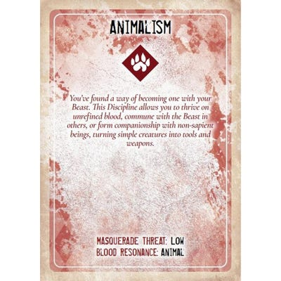 Vampire: The Masquerade, Discipline and Blood Magic Card Deck