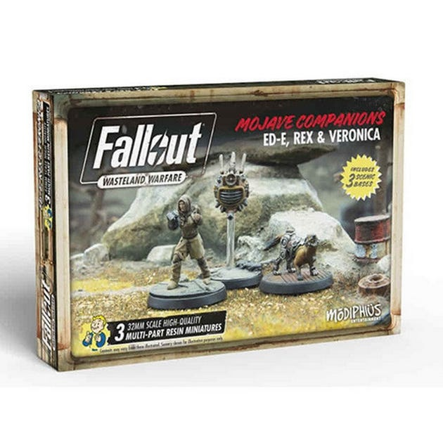 Fallout: Wasteland Warfare - Ed-E, Rex and Veronica
