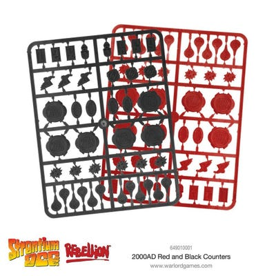 2000 AD Red and Black Counters