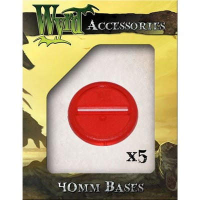 Red 40mm Translucent Bases - 5 Pack