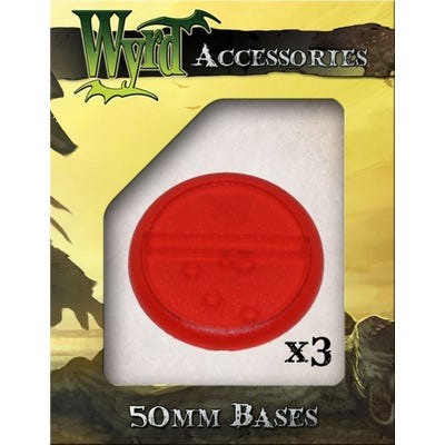 Red 50mm Translucent Bases - 3 Pack
