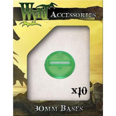 Green 30mm Translucent Bases - 10 Pack