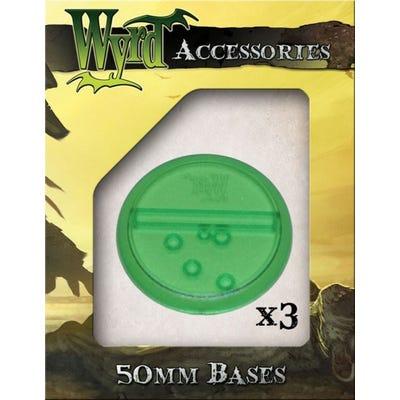 Green 50mm Translucent Bases - 3 Pack