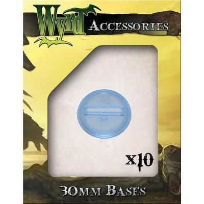 Blue 30mm Translucent Bases - 10 Pack