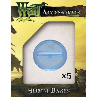 Blue 40mm Translucent Bases - 5 Pack