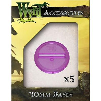 Purple 40mm Translucent Bases - 5 Pack