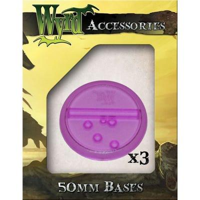 Purple 50mm Translucent Bases - 3 Pack