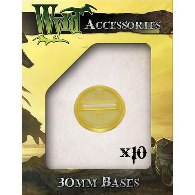 Gold 30mm Translucent Bases - 10 Pack
