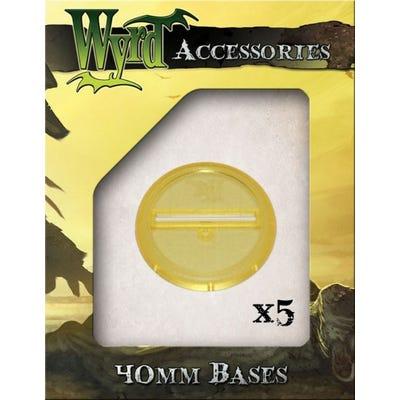 Gold 40mm Translucent Bases - 5 Pack
