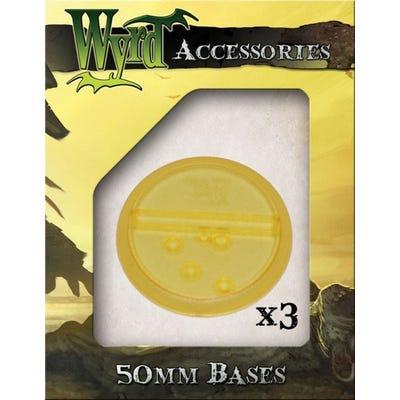 Gold 50mm Translucent Bases - 3 Pack