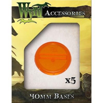 Orange 40mm Translucent Bases - 5 Pack
