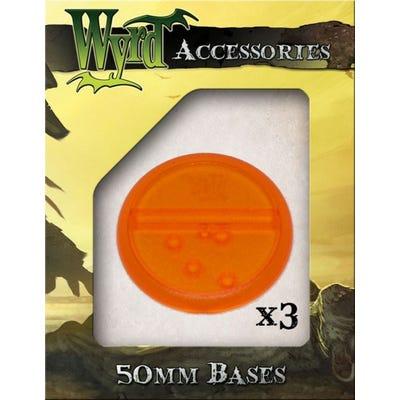 Orange 50mm Translucent Bases - 3 Pack