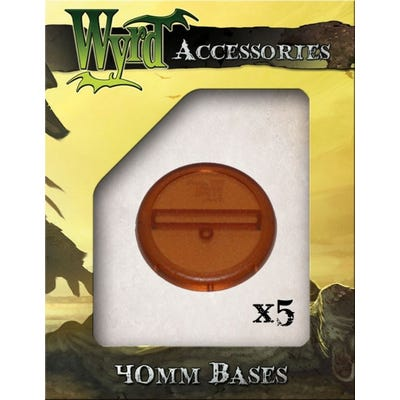 Rootbeer 40mm Translucent Bases - 5 Pack