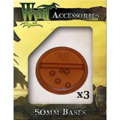 Rootbeer 50mm Translucent Bases - 3 Pack