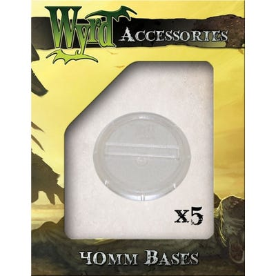 Clear 40mm Translucent Bases - 5 Pack