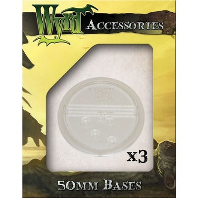 Clear 50mm Translucent Bases - 3 Pack