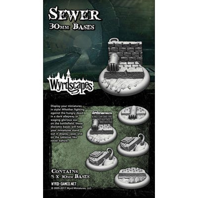 Wyrdscapes Sewer 30mm Bases - 5 Pack