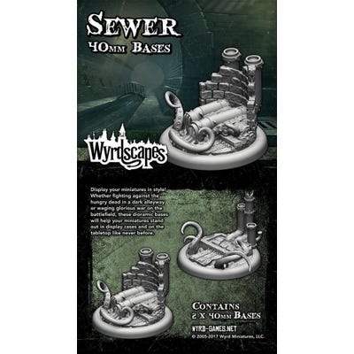 Wyrdscapes Sewer 40mm Bases - 2 Pack