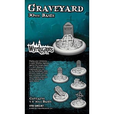 Wyrdscapes Graveyard 30mm Bases - 5 Pack