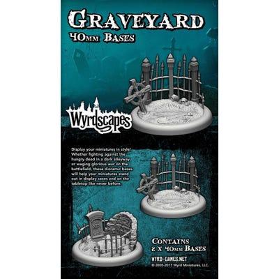 Wyrdscapes Graveyard 40mm Bases - 2 Pack