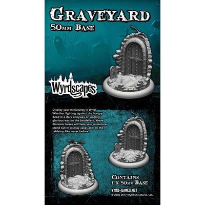Wyrdscapes Graveyard 50mm Base