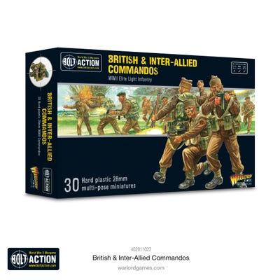 British & Inter-Allied Commandos Plastic Box Set