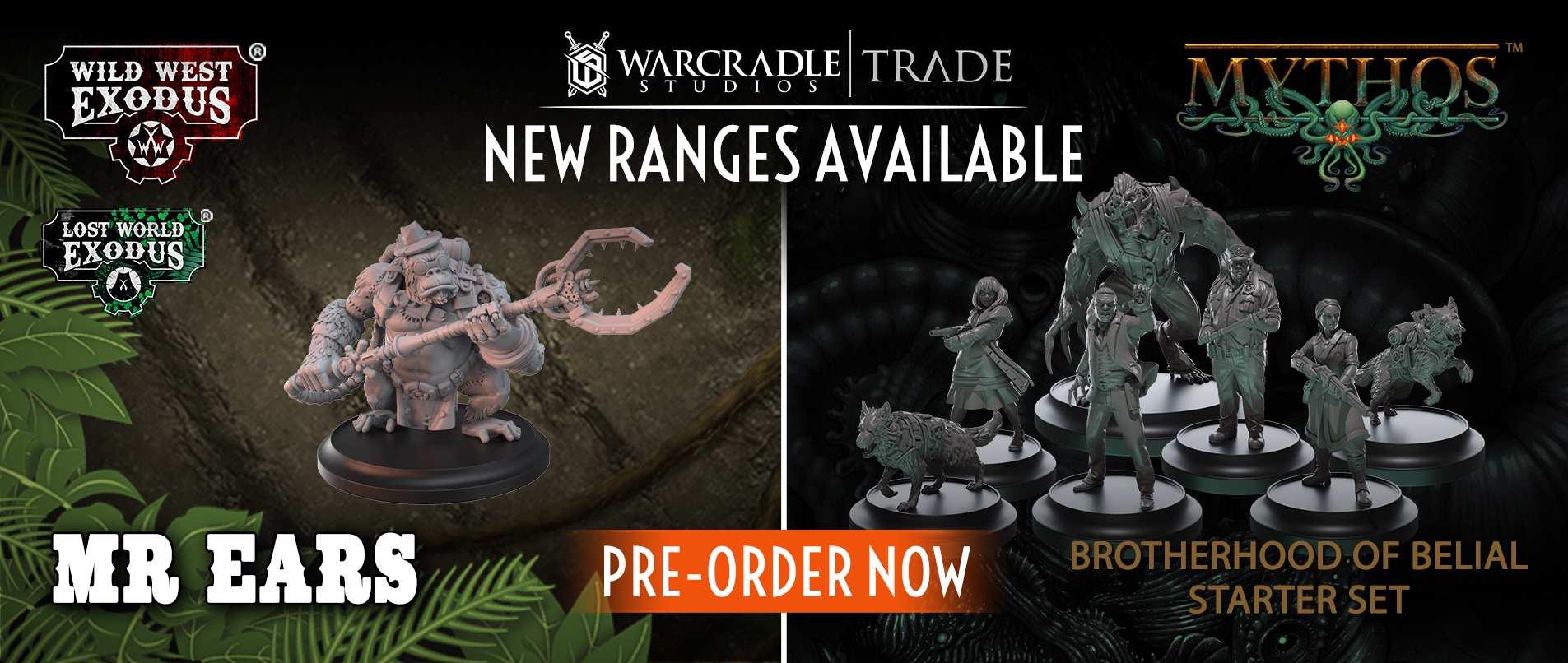 Warcradle Studios Trade Website - Mythos, Wild West Exodus and more